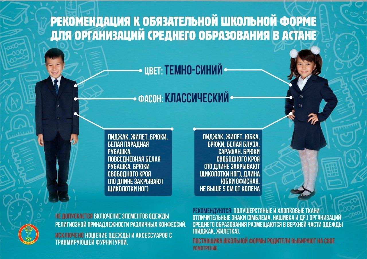 Рекомендация к обязательной школьной форме