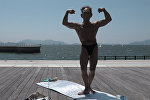 82-летний японский бодибилдер