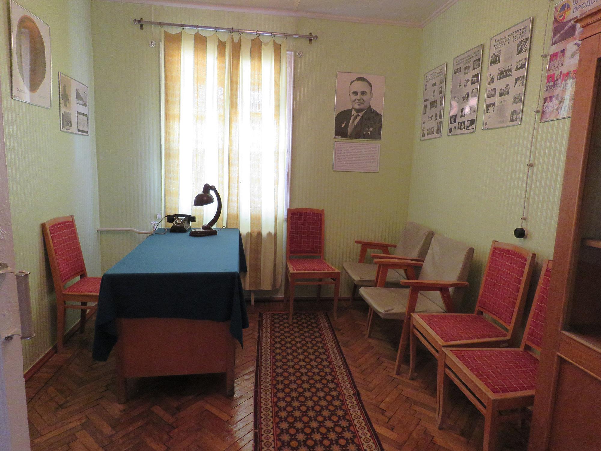 Аскетичная обстановка кабинета Сергея Королева