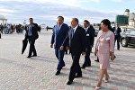 Нурсултан Назарбаев посетил новую набережную в Актау и смотрел амфитеатр под открытым небом