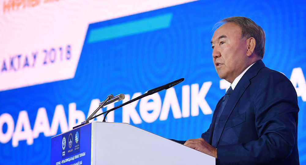 Нурсултан Назарбаев выступил на презентации порта Курык в Актау