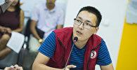 Тренер по первой помощи национального общества Красного Полумесяца Кыргызстана Атай Ибраев