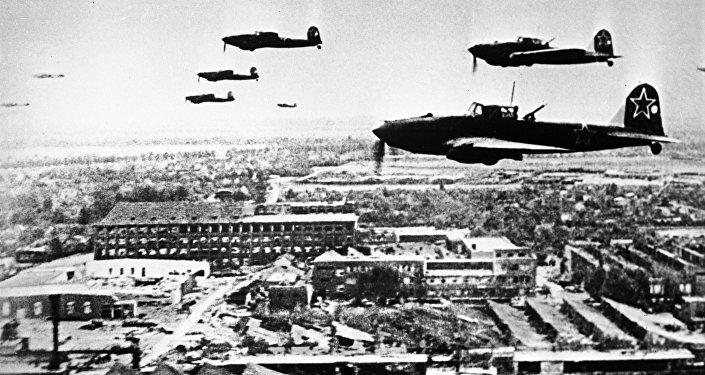 Боевой вылет самолетов Ил-2 в годы ВОВ