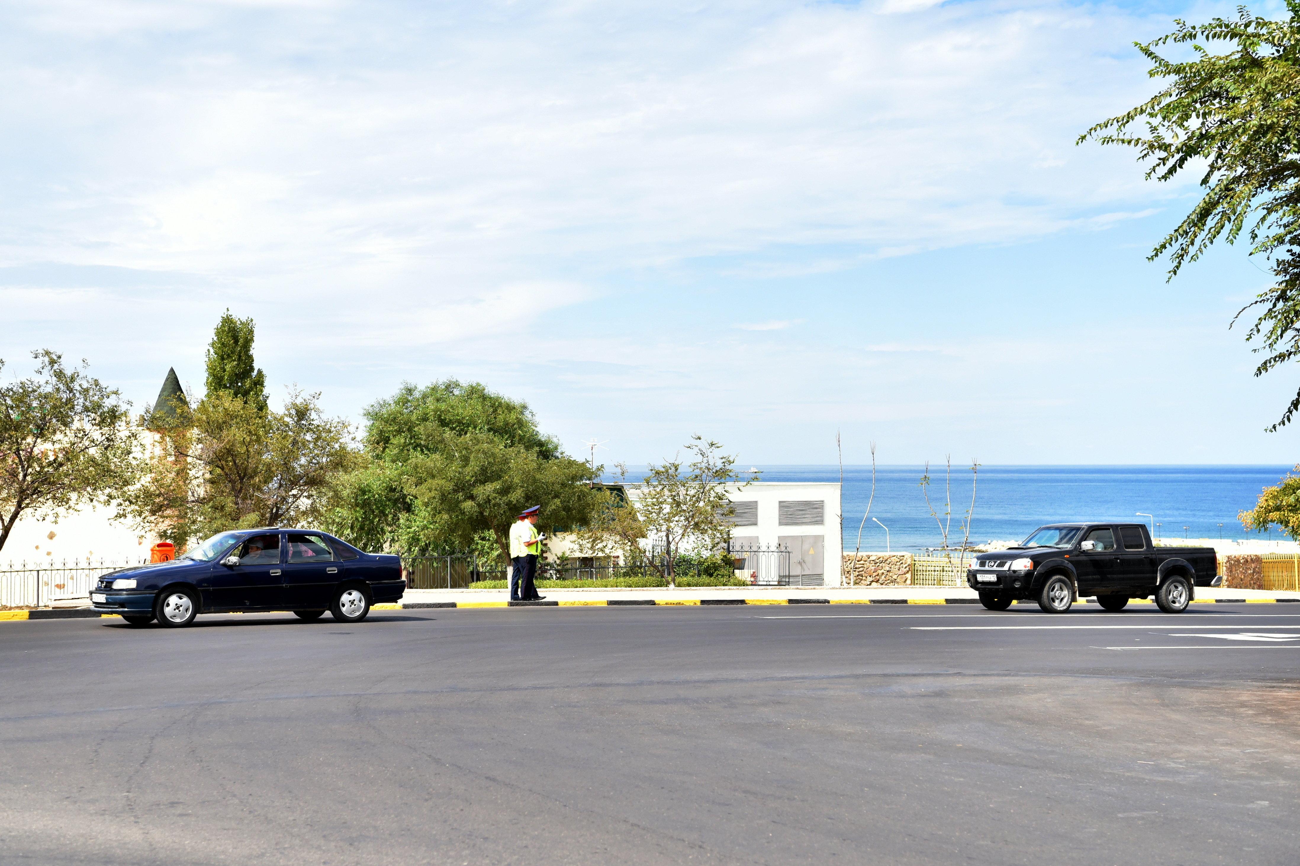 Полиция в Актау во время каспийского саммита