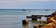 Вейвбординг на лебедке, каспийское море, Актау