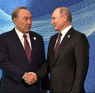 Владимир Путин пен Нұрсултан Назарбаев