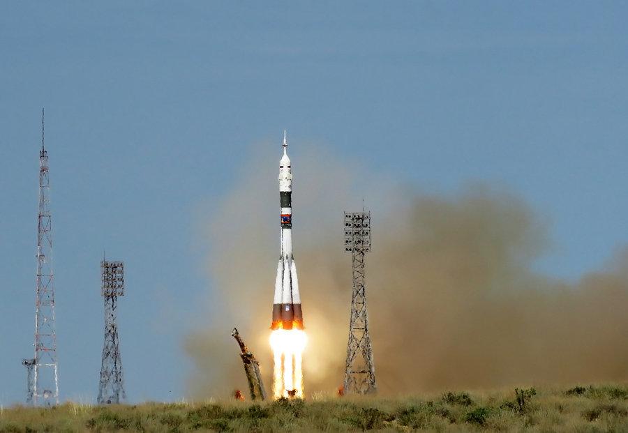 Запуск ракеты Союз МС-09