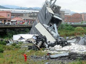 Обрушение моста в Генуе