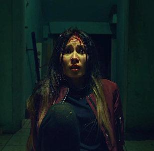 Кадр из фильма ужасов Во мраке
