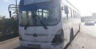 Два рейсовых автобуса столкнулись по проспекту Райымбека