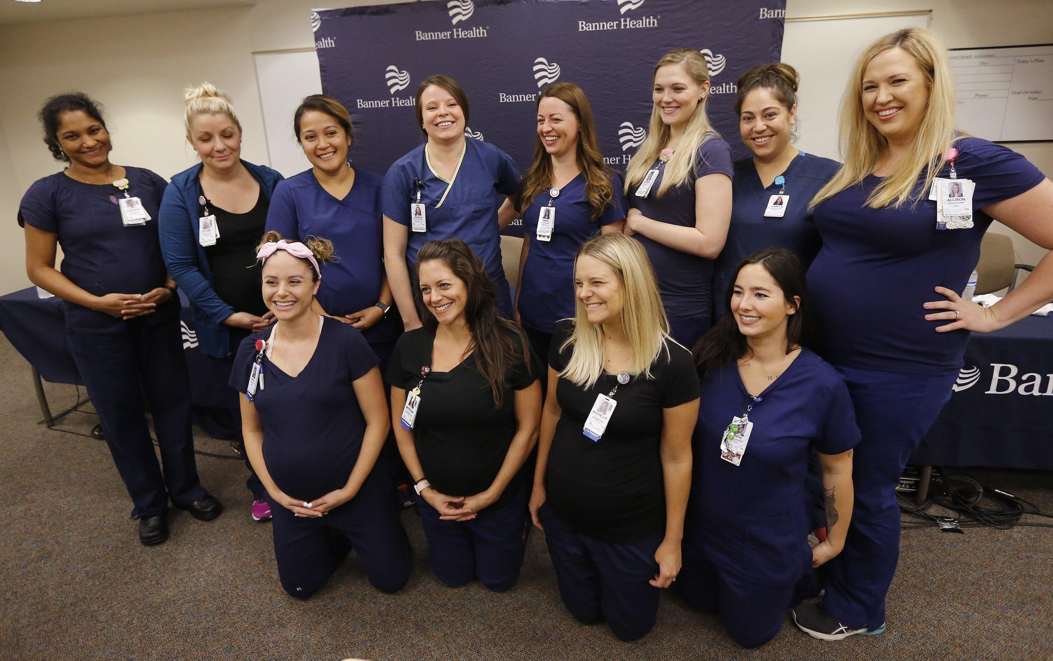 Одновременная беременность сотрудниц отделения интенсивной терапии вызвала настолько большой интерес, что они дали пресс-конференцию для журналистов