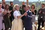 Путин на свадьбе главы МИД Австрии Кнайсль
