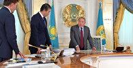 Нұрсұлтан Назарбаев пен Әсет ИСекешев