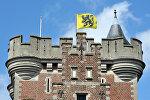 Замок Гаасбек в Бельгии, архивное фото