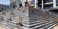Инсталяция у Национальной бибилиотеки в Астане