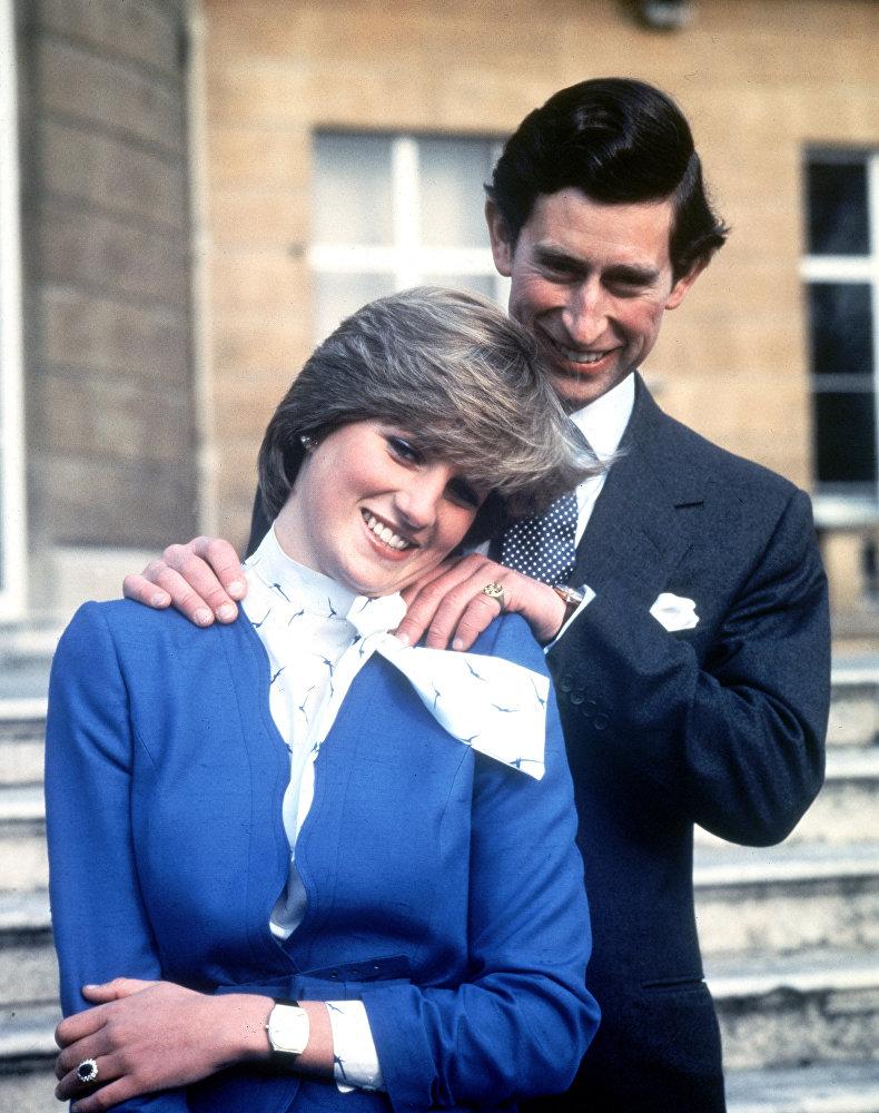 Британский принц Чарльз и леди Диана Спенсер