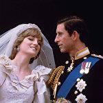 Принц Чарльз и его невеста Диана, принцесса Уэльская