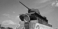 Памятник советским танкистам, участникам Курской битвы на 624-м километре автомагистрали Москва-Симферополь