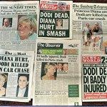 Издания лондонских газет с заголовками о гибели принцессы Дианы