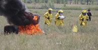 Қарағандыда зымыран бөлшектерінің құлау салдарын жою бойынша оқу-жаттығулар өтті