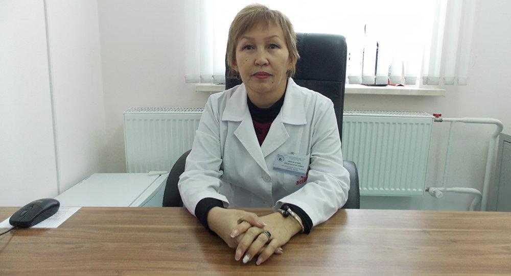 Заведующая отделением школьно-дошкольной медицины ГП №6 Айтжан Абылкасова