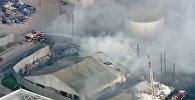 Возгорание на заводе Tesla
