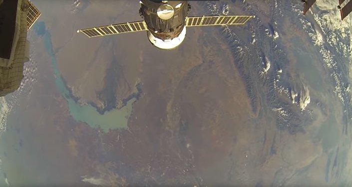 Вид на красоты Казахстана из космоса