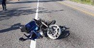 Мотоцикл столкнулся с Toyota Corolla на улице Горной