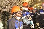Футболисты побывали в шахте