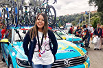 Пресс-секретарь команды Astana Pro Team Дина Ибраева