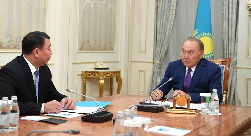 Нұрсұлтан Назарбаев ҚР Сырбар сыртқы барлау қызметінің директоры Ғабит Байжановты қабылдады