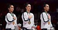 Сборная Казахстана по художественной гимнастике завоевала золотую медаль Азиатских игр-2018