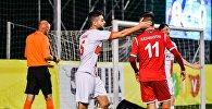 Сборная Казахстана на чемпионате Европы по мини-футболу среди любителей во время матча с Англией