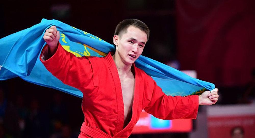 Казахстанский самбист Баглан Ибрагим