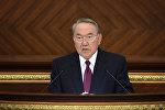 Нурсултан Назарбаев во время совместного заседания палат парламента