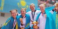Женская команда по гребле выиграла серебро Азиады