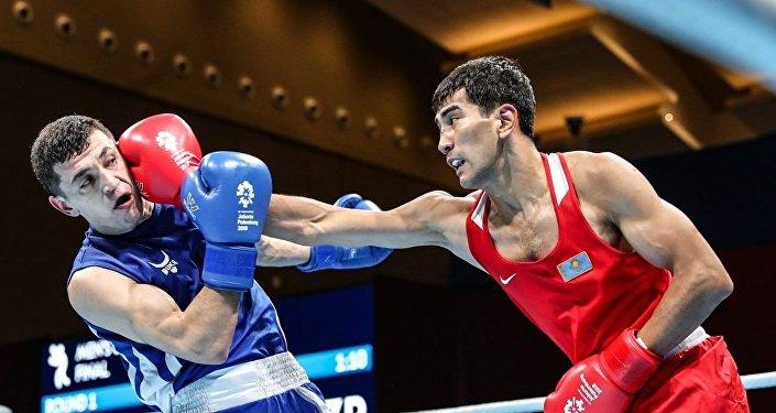 Казахстанский боксер Асланбек Шымбергенов