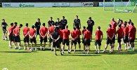 Сборная Грузии по футболу готовится к матчу