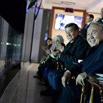 Нурсултан Назарбаев и Сооронбай Жээнбеков на церемонии открытия Третьих Всемирных игр кочевников