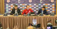 Главный тренер сборной Грузии по футболу рассказал журналистам о подготовке к матчу с командой Казахстана
