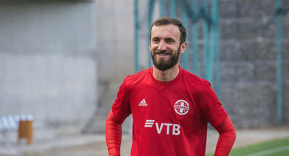 Игрок сборной Грузии Ника Квеквескири