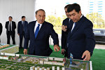 Нұрсұлтан Назарбаев Қарағанды қаласының жаңа орталығындағы құрылыс жұмыстарымен танысты