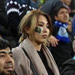 Болельщица сборной Казахстана по футболу