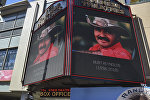 Плакат с изображением Бертона Рейнольдса на голливудской Алее славы, Калифорния, 6 сентября 2018 года