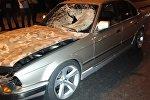 Сбитый мужчина перелетел через салон авто на пр. Рыскулова