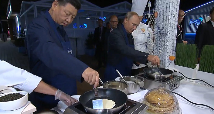 Путин мен Си Цзиньпин құймақ пісірді - видео