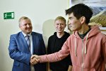 Жандос Садыбек и Дмитрий Кириллов после рассмотрения апелляционной жалобы в суде