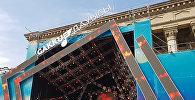 Концертная сцена на площади Астана в Алматы