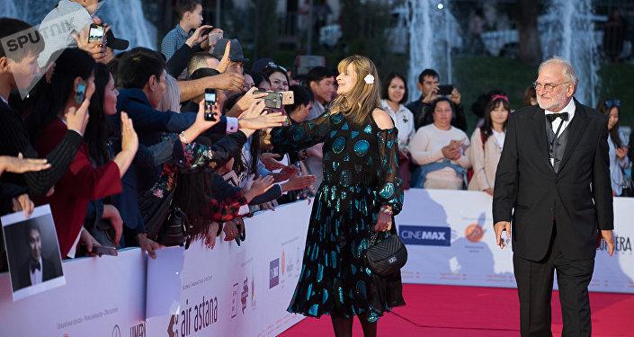 Актриса Настасья Кински на открытии Almaty Film Festival