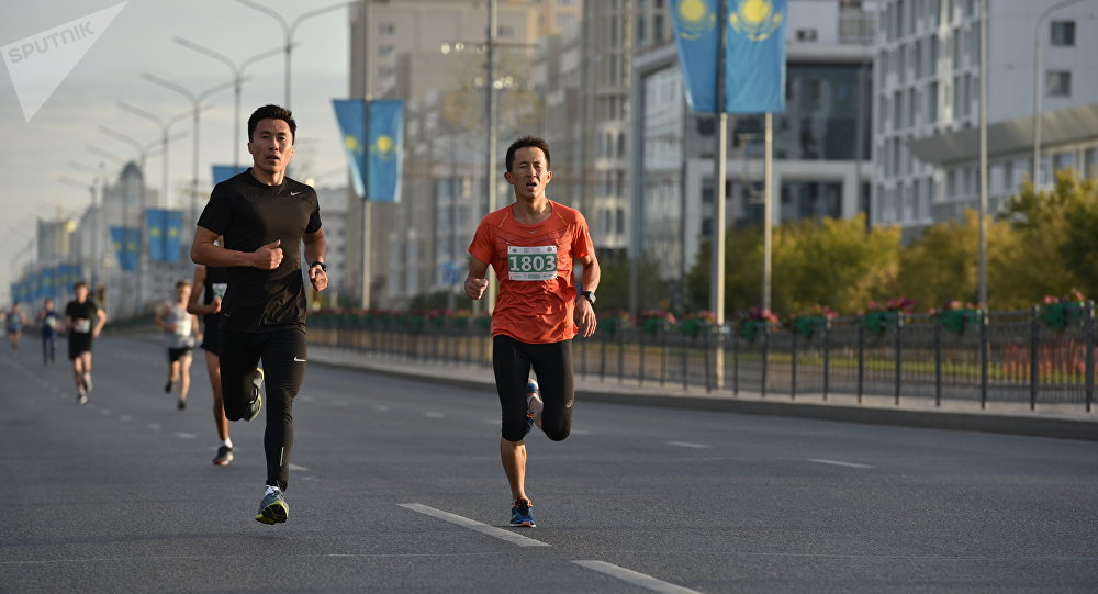 Участники Астана марафон